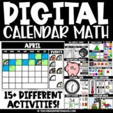 Digital Calendar Math for Google™ Classroom Distance Learn