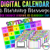 Digital Calendar Math Activities Remote Learning Morning M