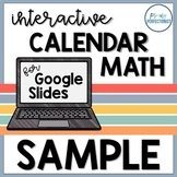 Digital Calendar Math for Google Slides / Classroom - FREE SAMPLE