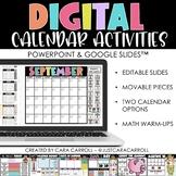Digital Calendar & Math for PowerPoint & Google Slides™   Distance Learning