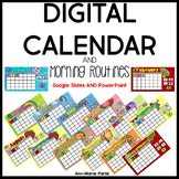 Digital Calendar (POWERPOINT AND GOOGLE SLIDES)