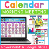 Digital Calendar PowerPoint and Google Slides | Virtual |