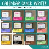 Digital Calendar Quick Writes (Bundle) | for Distance Lear