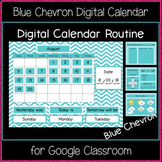 Digital Calendar Routine - Blue Chevron (Great for Google