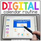 Digital Calendar Routine for Special Ed   Distance Learning Morning Meeting