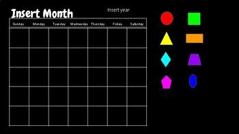 Digital Calendar Template with Goggle Slides