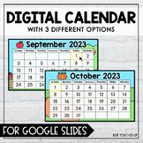 Digital Calendar for Google Slides 2021 - 2022