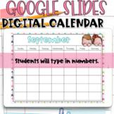 Digital Calendar for Google Slides | Yearly Digital Calendar