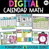 Digital Calendar Math   for Google Slides or PowerPoint   Distance Learning