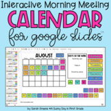 Digital Calendar for Morning Meeting - Interactive Calendar