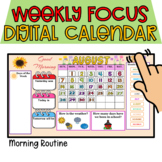 Digital Calendar for Morning Routine Distance Learning 202