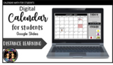 Digital Calendar for Students Morning Work Activity (Google)