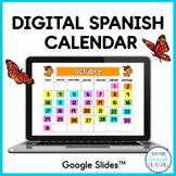 Digital Calendar in Spanish - Google Slides™ / Distance Teaching