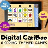 Digital CariBoo     Boom Cards™     Speech Therapy     6 Spring-Themed Games