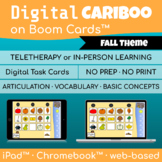 Digital Cariboo Game     Boom Cards™     Speech Therapy     Fall/Autumn Theme
