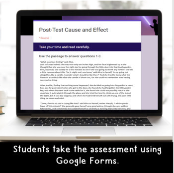 Digital Cause and Effect SELF-GRADING Assessments for Google Classroom
