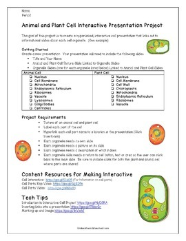 Digital Cell Model Project For Middle School