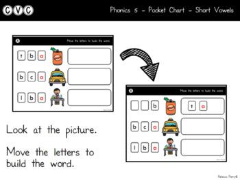 Digital Center - CVC Short Vowel A (Google Classroom) - Pocket Chart