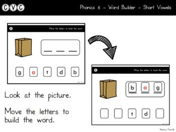 Digital Center - CVC Short Vowel A (Google Classroom) - Word Builder