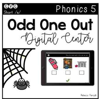Digital Center - CVC Short Vowel E (Google Classroom) - Odd One Out