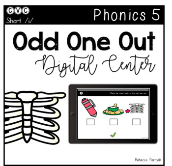 Digital Center - CVC Short Vowel I (Google Classroom) - Odd One Out
