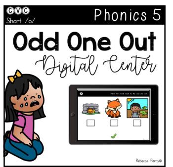 Digital Center - CVC Short Vowel O (Google Classroom) - Odd One Out