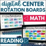 Digital Center Rotations Board Bundle - Reading & Math