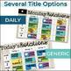 Digital Rotation Board Bundle - Reading & Math
