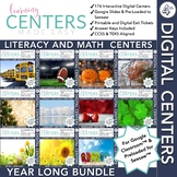 Digital Fourth Grade Centers | Math and Literacy Year Long Bundle | Volume One