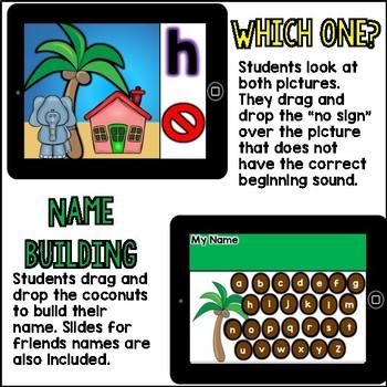 Digital Centers / Google Classroom Chicka Chicka ABC (4 activities)