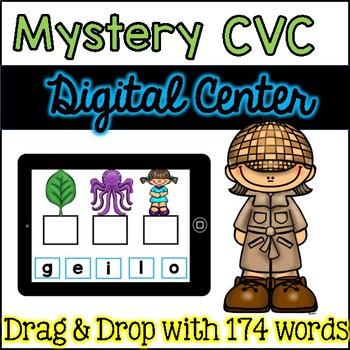 Digital Centers / Google Classroom Mystery CVC Words