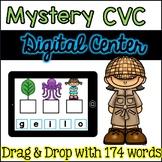 Digital Centers Mystery CVC Words for Google Classroom / One Drive