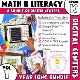 Digital Centers - Kindergarten Math and Literacy COMBO - Y