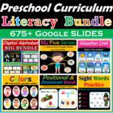 Digital Centers Preschool Literacy Bundle | Distance Learning- 675+ Google Slide