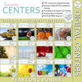 Digital Third Grade Centers   Math and Literacy Year Long Bundle   Volume One