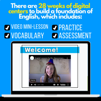 Digital Centers for ELL Newcomers {GROWING BUNDLE}