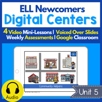 Digital Centers for ELL Newcomers {Unit 5}