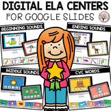 Digital Centers for Kindergarten ELA | Distance Learning