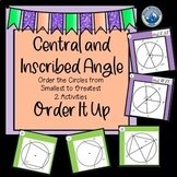 Digital Central/Inscribed Angles Order it Up --Distance Learning