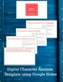 Digital Character Analysis Template Using Google Slides