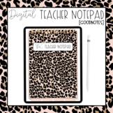 Digital Cheetah Teacher Notepad | [GOODNOTES]