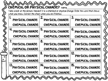 Digital Chemical and Physical Change Review