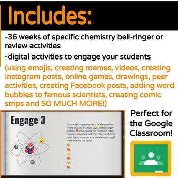 Digital Chemistry Bell-Ringer or Review Engagement Activities