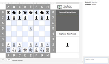 Digital Chess Game for Google Sheets!
