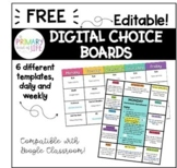 Digital Choice Board / Gameboard Templates {FREEBIE} Dista