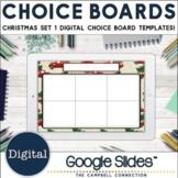 December Choice Board Template   Christmas Theme 1