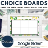 Editable Choice Board Template   Digital   Spring