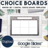 Winter Choice Board Template   Editable   Digital   Set 1