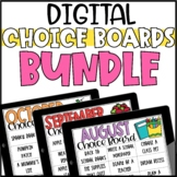 Digital Choice Boards for Early Finishers Bundle