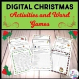 Digital Christmas Activities and Word Puzzles